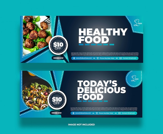 Minimal food restaurant social media post promotion banner