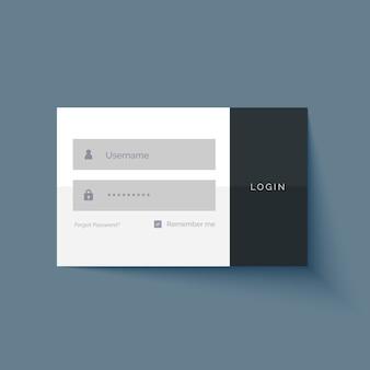 Minimal login benutzeroberfläche form design