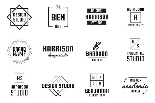 Minimal logo für banner, poster, flyer