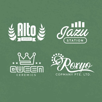 Minimal- und retro-logo-designs