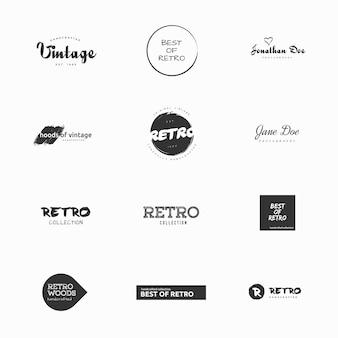 Minimal vintage und retro-vektor-logos illustrationen