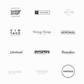 Minimal vintage vektor-logo-vorlagen für marken-design