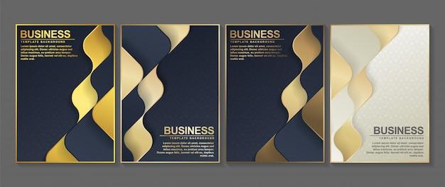 Minimale abdeckung in gold. geometrisches abstraktes plakatdesign.