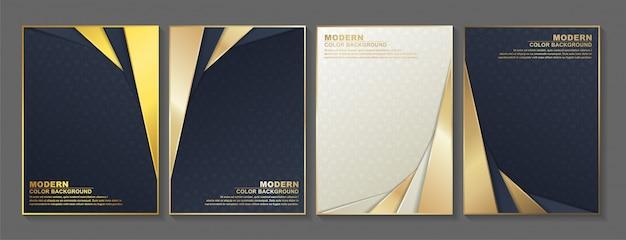 Minimale abdeckung in gold. vektorgeometrisches abstraktes design.