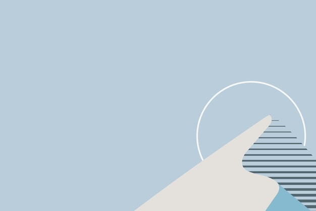Minimale ästhetik des blauen berghintergrunds