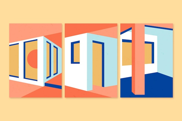 Minimale architektur deckt das konzept ab