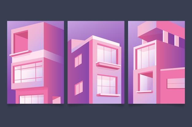 Minimale architektur deckt das thema ab