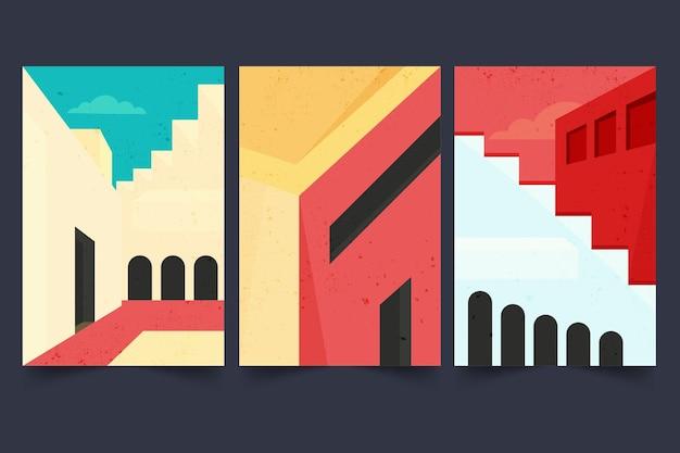 Minimale architektur deckt die sammlung ab