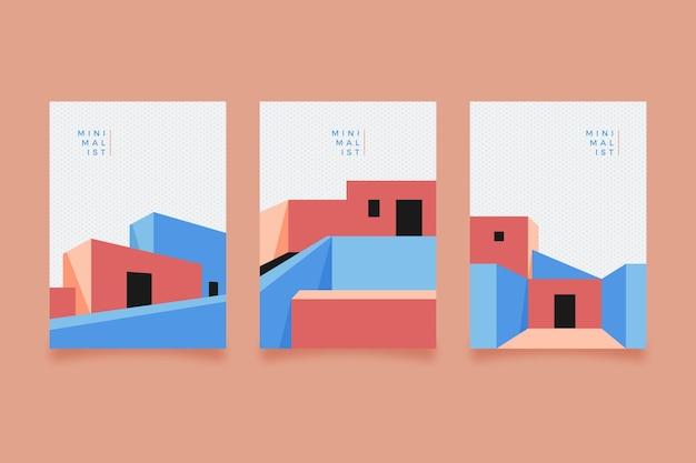 Minimale architektur deckt pack ab