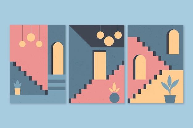 Minimale architektur deckt stil ab