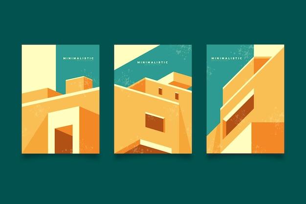 Minimale architektur deckt vorlage ab
