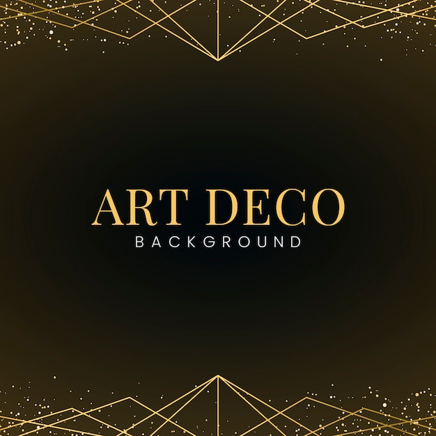 Minimale art deco tapete mit dekorativem goldglitter