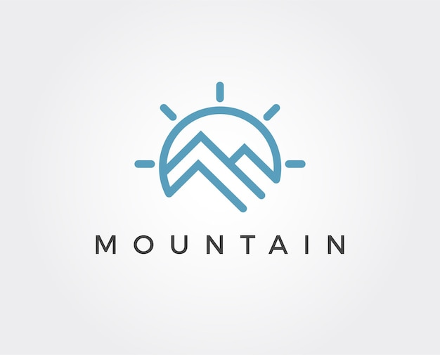 Minimale berglogo-vorlage