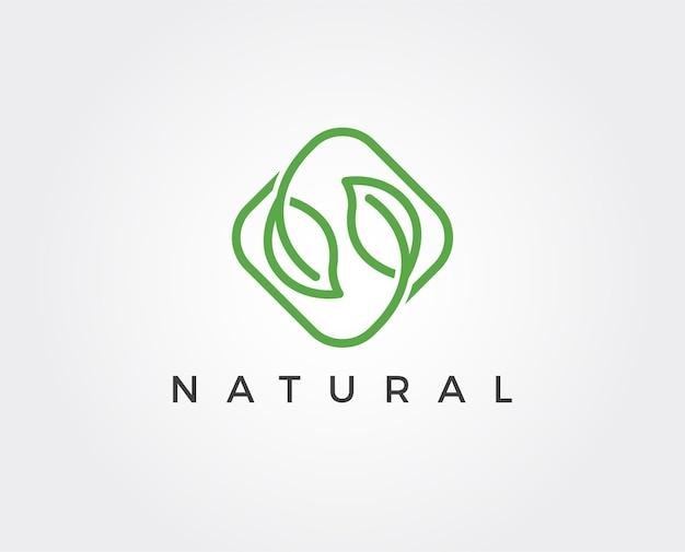 Minimale blätter logo-vorlage