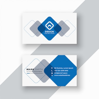 Minimale blaue geometrische visitenkarte