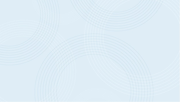 Minimale blaue kreishintergrundvektorillustration