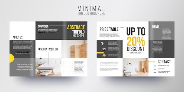Minimale broschürenvorlage
