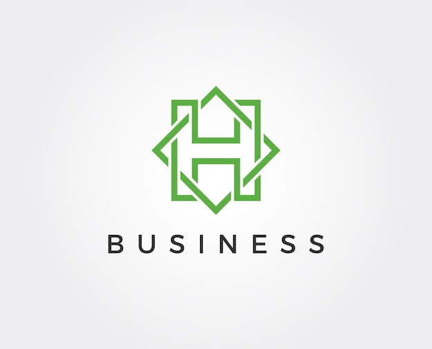 Minimale buchstaben h-logo-vorlage