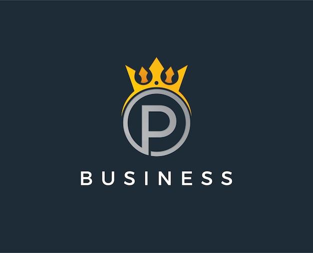 Minimale buchstaben p-logo-vorlage