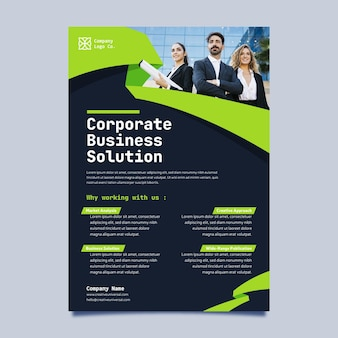 Minimale business-flyer-vorlage