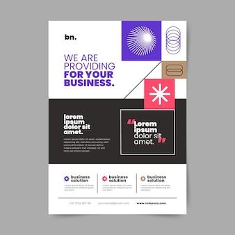 Minimale business-flyer-vorlage
