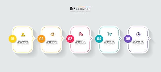 Minimale business-infografik-vorlage Premium Vektoren