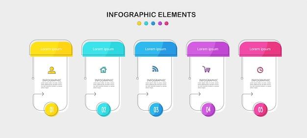 Minimale business-infografik-vorlage