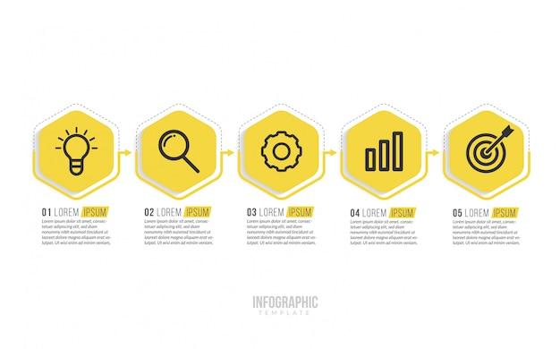 Minimale business-infografiken-vorlage