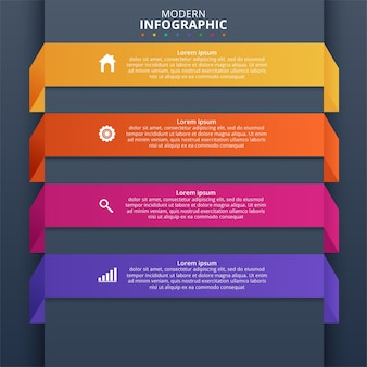 Minimale business infographics-vorlage. vektorillustration