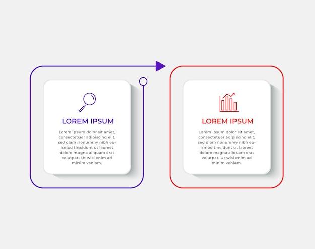 Minimale business infographics-vorlage