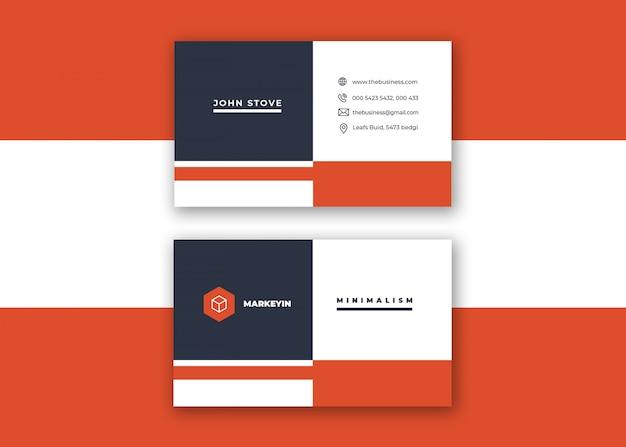 Minimale corporate design-visitenkarte des kreativen sauberen bunten vektordesigns für druck