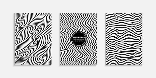 Minimale cover-design-vorlage mit einem gestreiften hintergrund