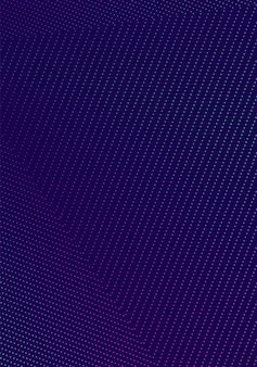 Minimale cover-vorlage. modernes broschürenlayout. leuchtende neon-halbtonverläufe auf dunkelblauem hintergrund. außergewöhnliches trendiges abstraktes cover-design.
