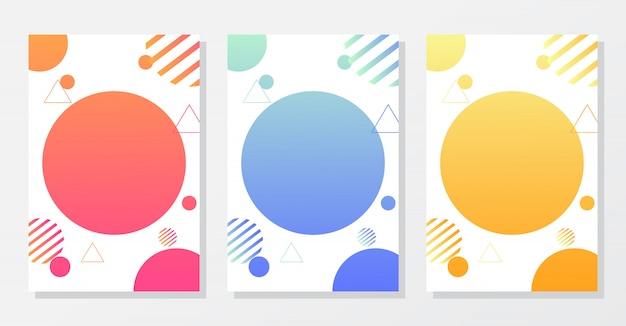 Minimale deckung. bunte farbverläufe. futuristischer stil.