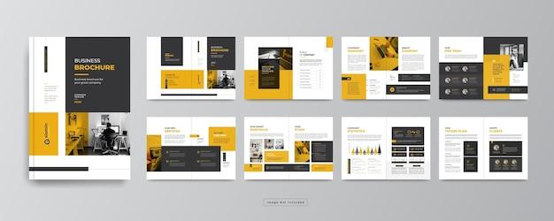 Minimale designvorlage für unternehmensprofil oder unternehmensbroschüre