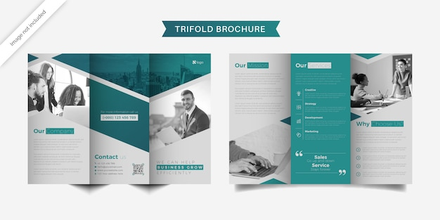 Minimale dreifach gefaltete broschürenvorlage für unternehmen