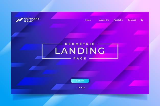 Minimale geometrische landingpage-vorlage