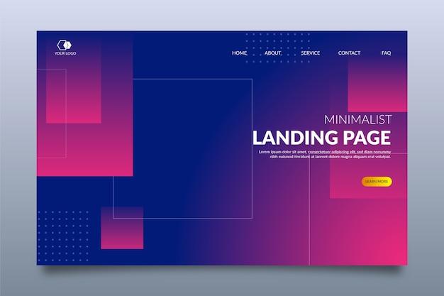 Minimale geometrische landingpage