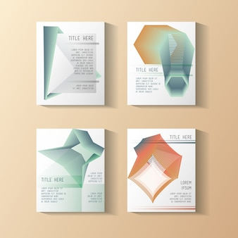 Minimale geometrische set-vorlagen-etiketten