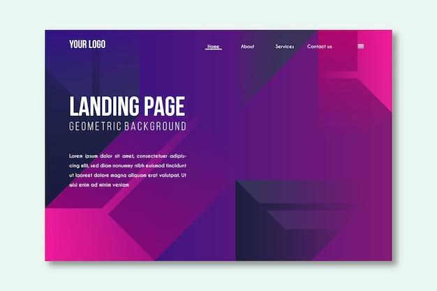 Minimale geometrische vorlage landing page