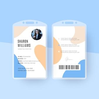 Minimale id-karten-vorlage mit foto