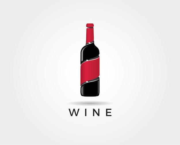 Minimale illustration der rotweinlogoschablone