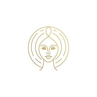 Minimale illustration linearen stil emblem vorlage