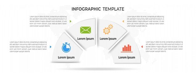 Minimale infografik 4 optionen.