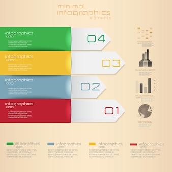 Minimale infografiken.