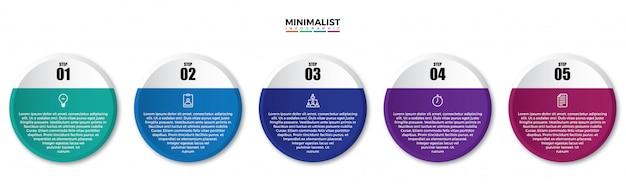 Minimale infografiken