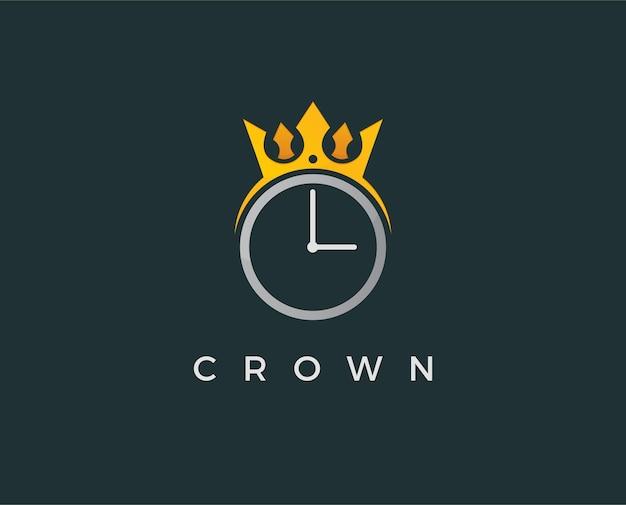 Minimale krone logo-vorlage