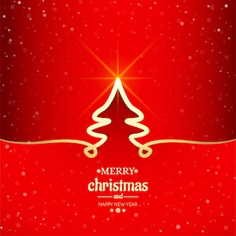 Minimale linie baumhintergrund der frohen weihnachten