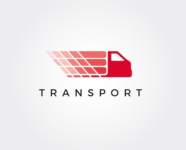 Minimale lkw-logo-vorlage