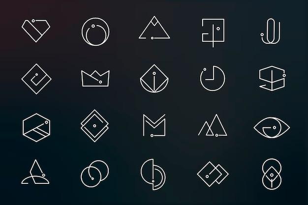 Minimale logo-designs festgelegt